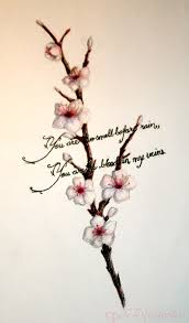 small cherry blossom tree on forearm photos pictures and