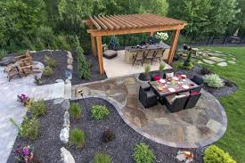 Flagstone Patio Designs Backyard Flagstone Patio Flagstone Patio In The Backyard Tropical