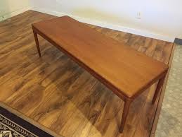danish teak coffee table with slide out shelf 650 modern to