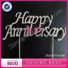 25 cake topper online shop 25pcs lot happy anniversary cake topper silver
