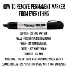 How To Get Dry Stains Out Of Carpet Top 10 Life Hacks Of The Week Remove Permanent Marker Permanent