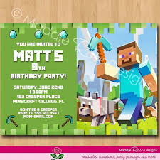 minecraft birthday invitations minecraft birthday invitation minecraft birthday invitation in