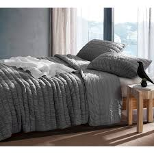 byb alloy grey cotton pure textured quilt set free shipping