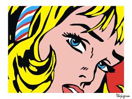 roy lichtenstein vector with hair ribbon wp by thejcgerm on deviantart