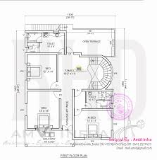 5 bedroom house plans free floor plan and elevation of 2927 square feet 5 bhk
