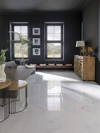 Tile Flooring Living Room This Room U0027s Elegant Palette Is Emphasized By The Gorgeous Tiling