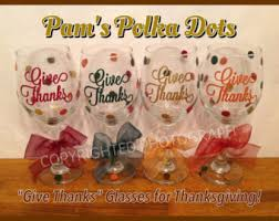 thanksgiving wine glasses set of 2