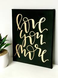 Silver And Gold Home Decor by Love You More 8x10 Mini Canvas Black And White Navy And