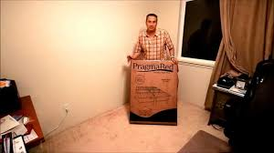 pragma bed unboxing pragma bed simple base bi fold bed frame youtube