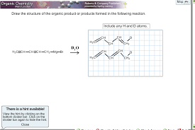 draw the structure of the organic product or produ chegg com