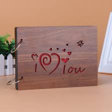 personalized wooden gifts 1pcs yt75 30 pages personalized photo album wooden gifts