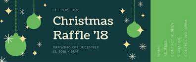 templates for raffle tickets green christmas raffle ticket templates by canva