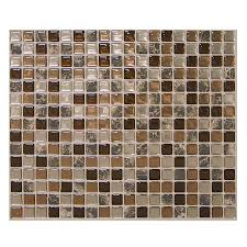 shop smart tiles 6 pack brown uniform squares mosaic composite
