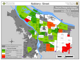 Portland Neighborhood Map by Portland State Criminal Justice Policy Research Institute