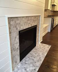 Fireplace Wall Tile by Love This Hex Mosaic Tile Fireplace Surround Chenille White