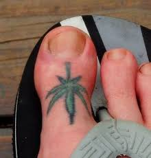 little weed on foot tattoo designs tattoo pictures