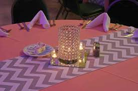 Grey Chevron Table Runner Get The Look Trendy Train Station Wedding Reception Elite