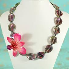 necklace flower handmade images Orchid flower jewelry real orchid necklace handmade gifts jpg
