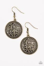 earrings s paparazzi whats vine is vine brass filigree earrings