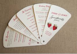 fan shaped wedding programs wedding ceremony program fans