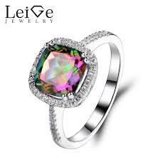 topaz rings prices images Leige jewelry mystic topaz ring halo rings for women wedding jpg