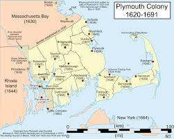 Massachusetts State Map by Plymouth Colony Wikipedia