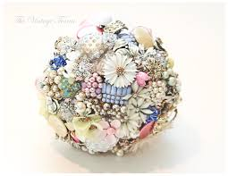 Shabby Chic Wedding Bouquets by Bridal Brooch Bouquet Shabby Chic