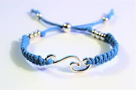 cord macrame bracelet images Ocean wave adjustable macrame 39 waxed cord bracelet anklet JPG