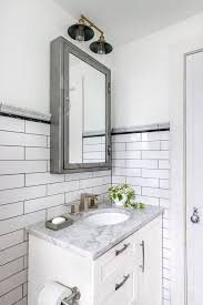 lighted medicine cabinet bathroom transitional with square sink