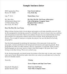 formal business letter format 29 download free documents in