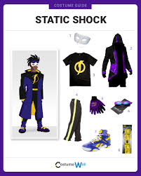 dress like static shock costume halloween and cosplay guides