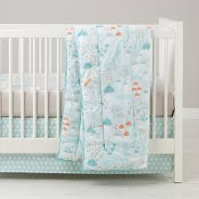 Design Crib Bedding Well Nested Branch Acorn Baby Bedding The Land Of Nod