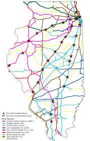 Map Of Central Illinois by Rail