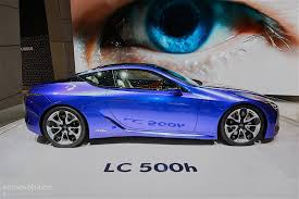 lexus hybrid coupe 2016 lexus lc500h shows up in stunning blue exterior in geneva is