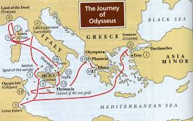 Ithaca Map The Homeric Parallel In Ulysses Joyce Nabokov And Homer In Maps