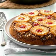 spiced pineapple upside down cake recipe taste of home