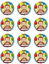 curious george cupcakes 12 curious george edible cupcake toppers kitchen