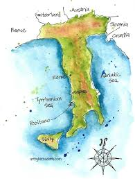 Map Of Positano Italy by Map Archives Art By Bernadette
