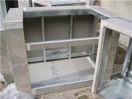 Building Outdoor Kitchen With Metal Studs - outdoor kitchen designed by bellevue landscaper environmental