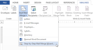 mail merge from excel word 2013 mail merge full page