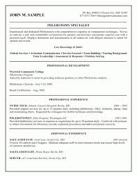 sle resume for phlebotomy with no experience sle resume for phlebotomy with no experience