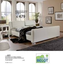 meubles belot chambre meubles belot promotion lit moderne en cuir look blanc produit