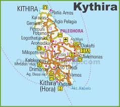 Thessaloniki Greece Map by Kythira Maps Greece Maps Of Kythira Island