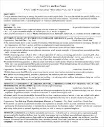 Examples Of College Graduate Resumes by Sample College Graduate Resume 8 Free Documents Download In