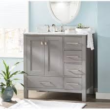 Single Vanity For Bathroom by Left Side Sink Vanity Wayfair