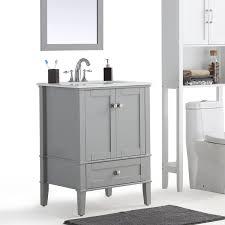 White Bath Vanity With Top Wyndenhall Windham Grey Bath Vanity With White Quartz Marble Top