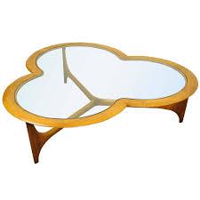 lane mid century modern coffee table vintage lane three leaf clover mid century modern coffee table