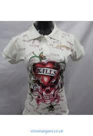 wholesale ed hardy clothing factory price ed hardy women polos