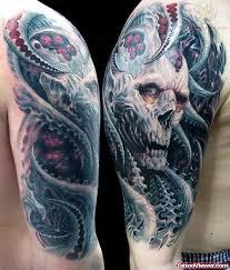 biomechanical skull on half sleeve viewer com