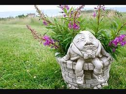 humpty dumpty flower pot planter patio cast bespoke garden